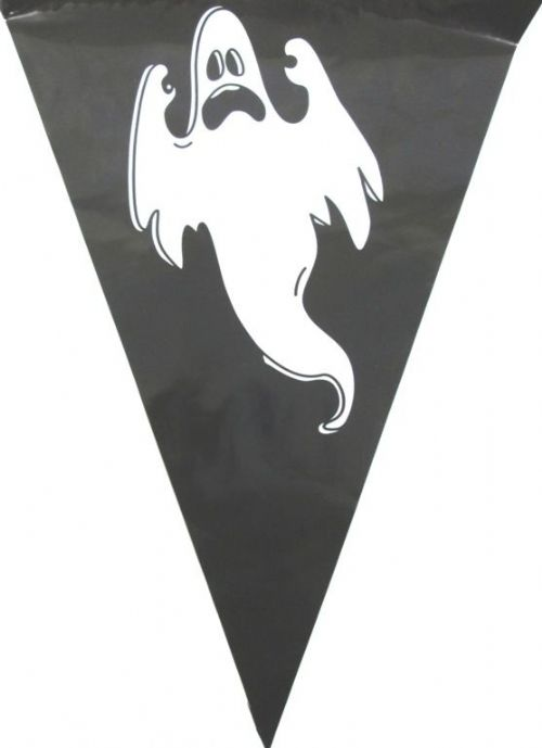 Bunting Ghost Design 15 Flags on 6m Scary Creepy Halloween